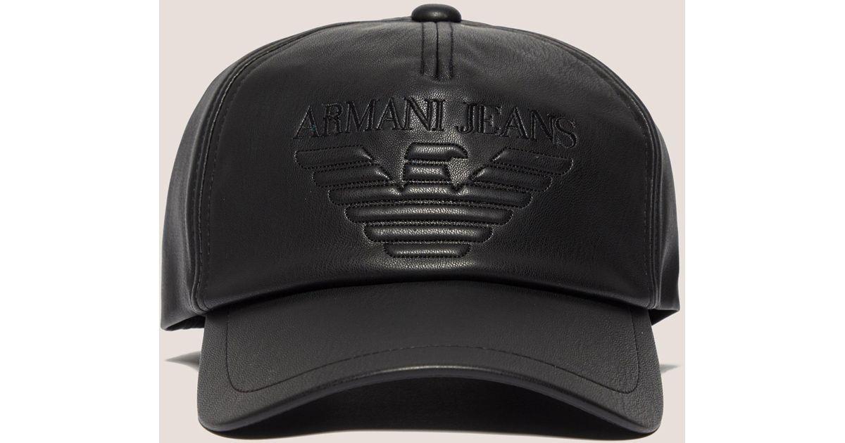 d92e5ce58b372a Armani Jeans Mens Eagle Cap Black in Black for Men - Lyst