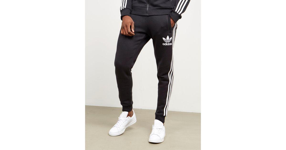 e0a6212d92 Adidas Originals Mens California Cuffed Track Pants Black/white for men
