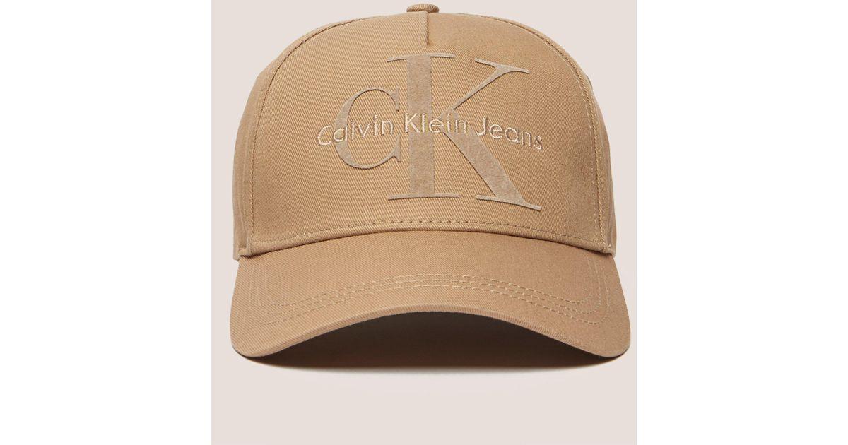Lyst - Calvin Klein Mens Re-issue Baseball Cap Tan in Brown for Men 3f2afe905bb