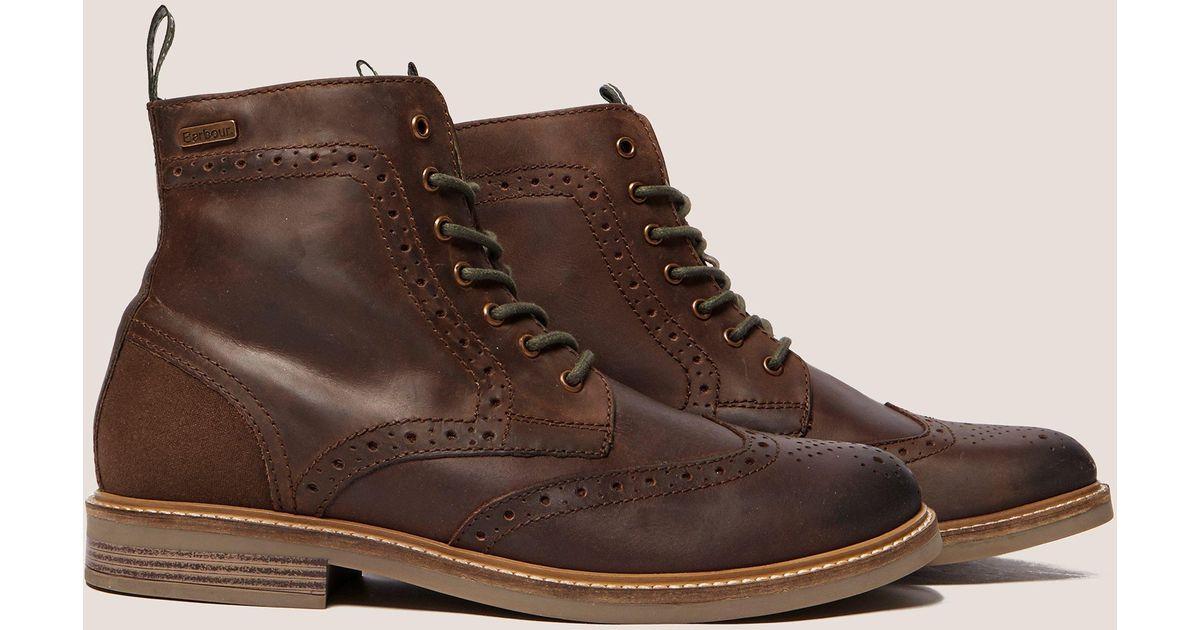 57fcf3ab459 Barbour - Mens Belsay Boot Brown for Men - Lyst