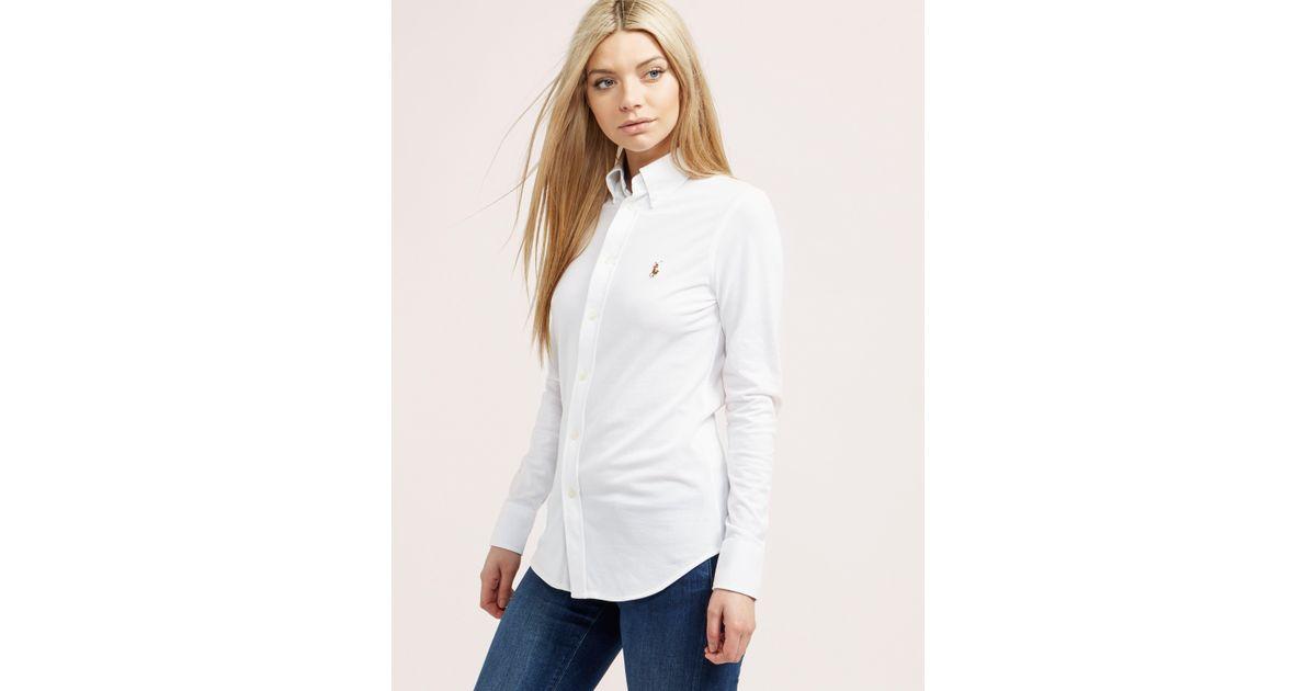 Oxford Ralph Shirt Polo White Lauren xrdCeBWo
