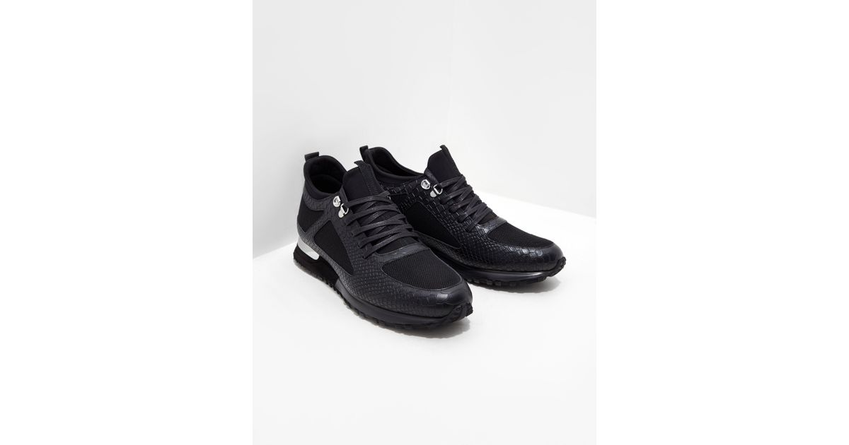 Mallet Leather Diver Python Trainers