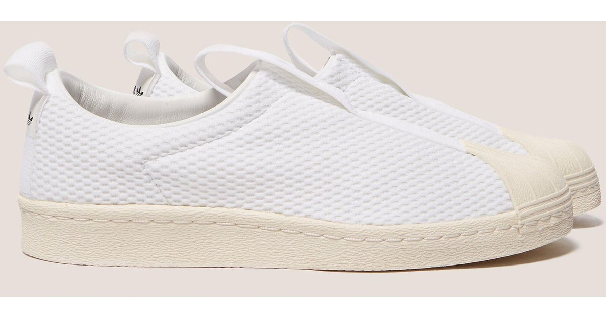 save off ea769 9f3cf Lyst - adidas Originals Superstar Bw35 Slip-on Womens in Whi