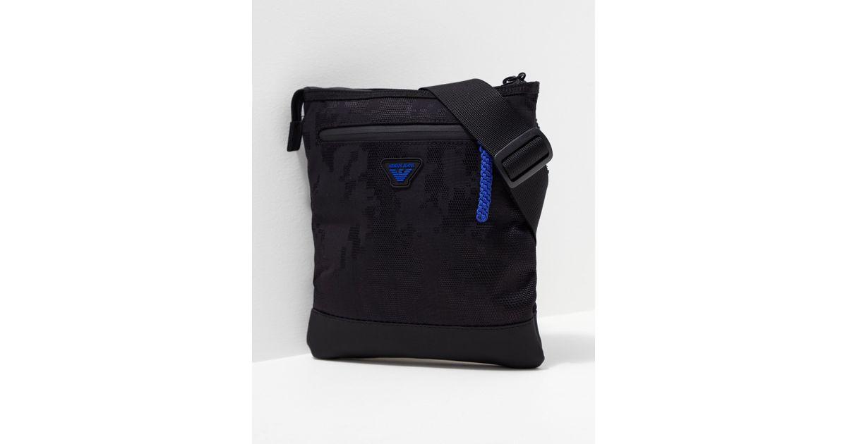 Lyst - Armani Jeans Mens Small Eagle Bag Black blue in Black for Men fdf3abb3487a6