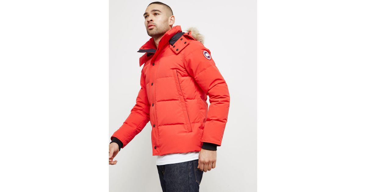 canada goose red mens coat