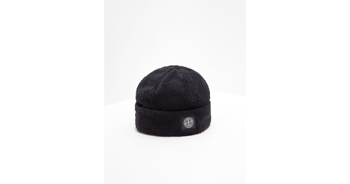 Stone Island Mens Patch Terry Beanie - Online Exclusive Black in Black for  Men - Lyst 7c0272889eda