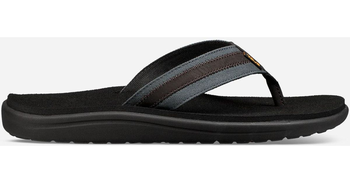 39dd99052 Lyst - Teva Voya Canvas Flip in Black for Men