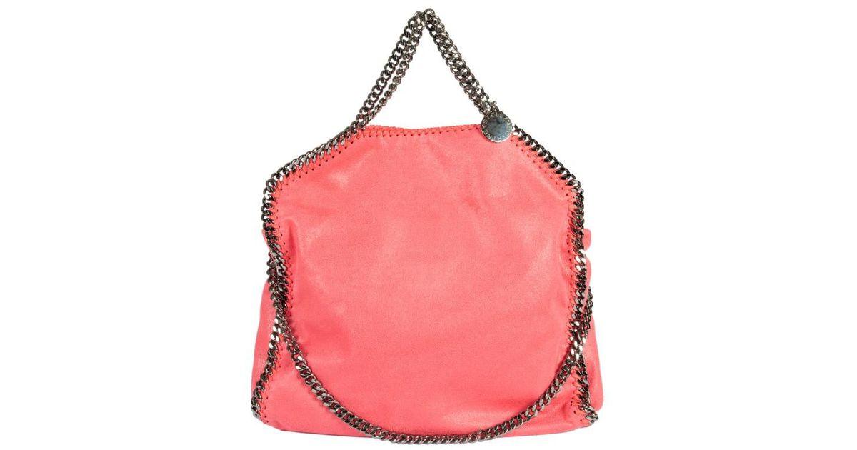 97cd79ff8e9b Lyst - Stella McCartney Falabella 3 Catene SHAGGY Deer Silver Chain in Pink