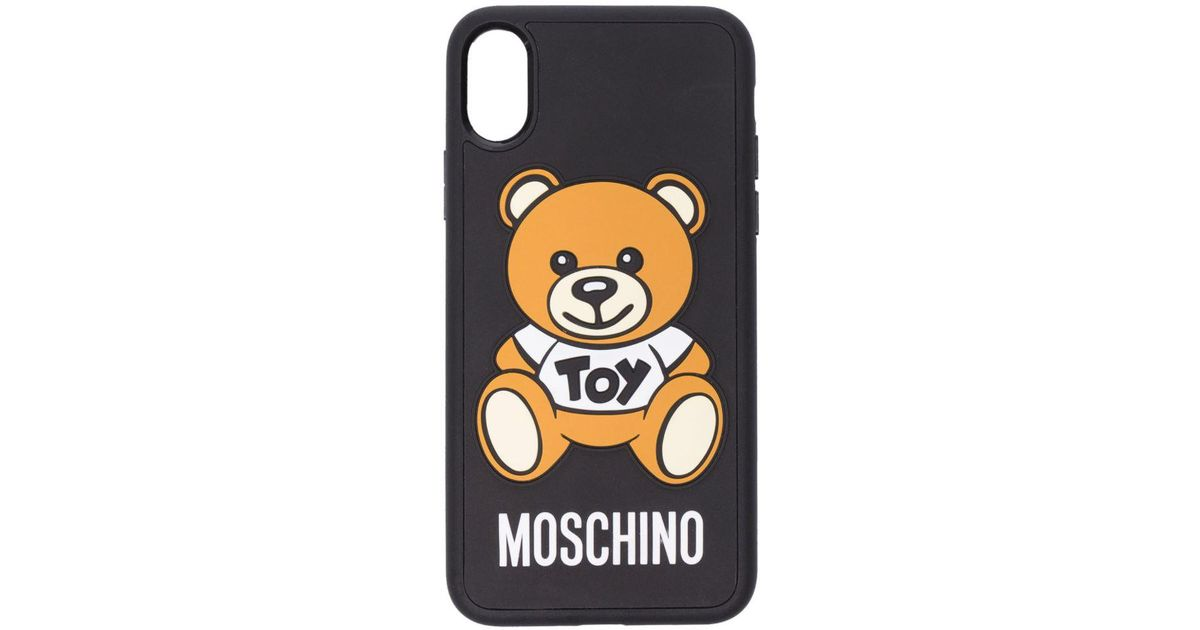 huge discount d8027 11974 Moschino Multicolor Iphone X Toy Bear Case