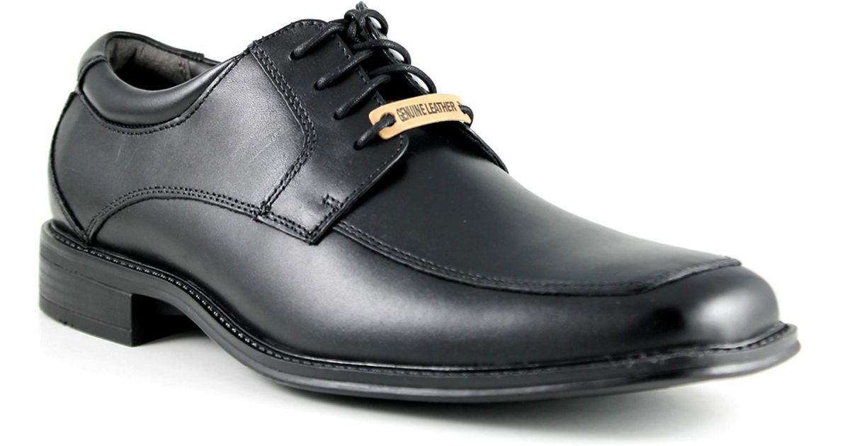 dockers amherst leather dress shoe in black for save