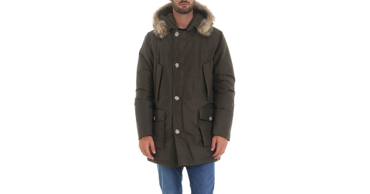 Woolrich Cotton Arctic Parka Df Down Jacket In Army Green Color For Men Lyst