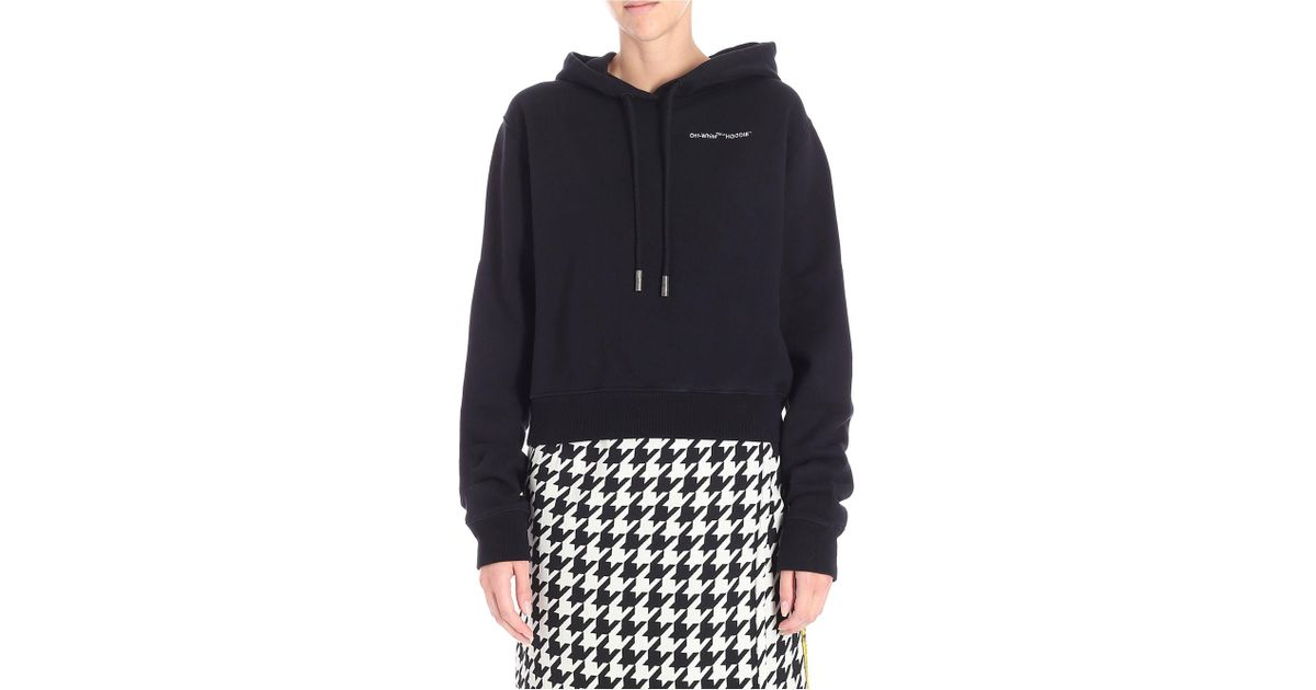 1f9e7641aff5 Lyst - Off-White c o Virgil Abloh Cropped Hoodie in White