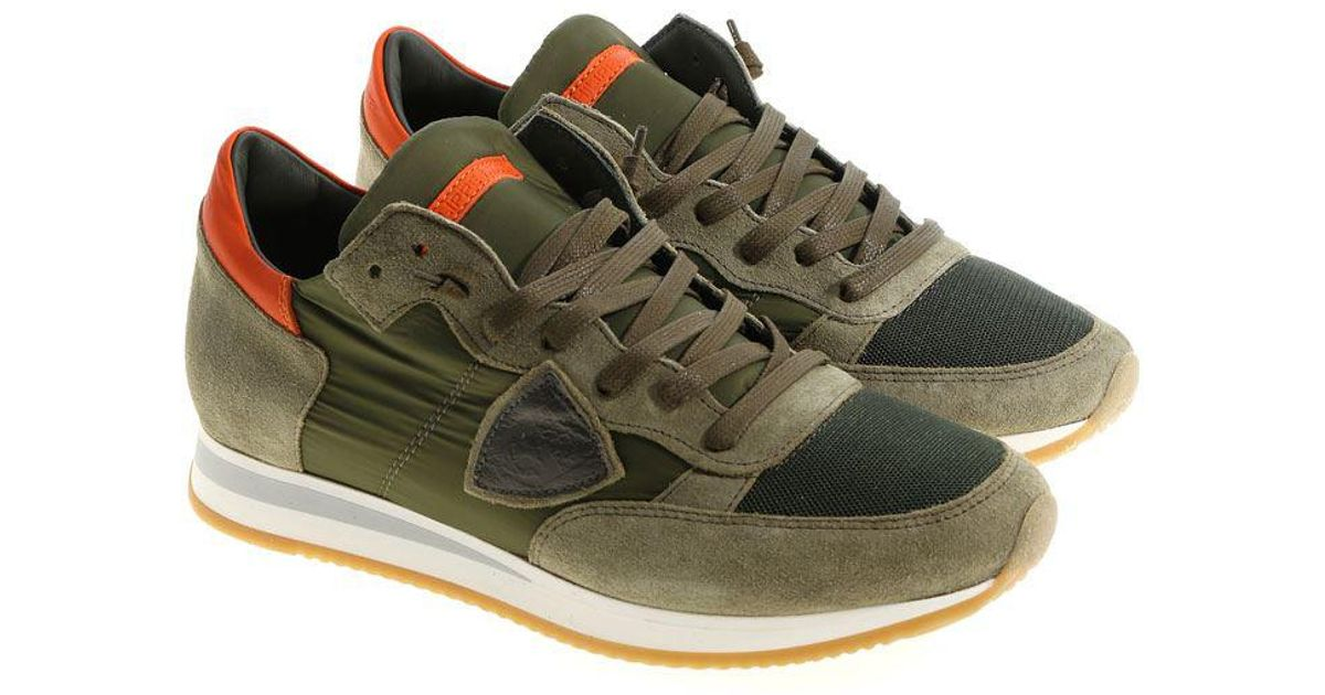 Army green Tropez L sneakers Philippe Model bGtvOfD