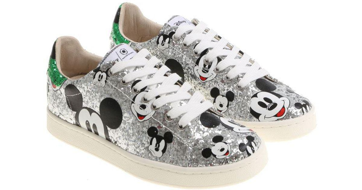 Silver Mickey Mouse Sneakers