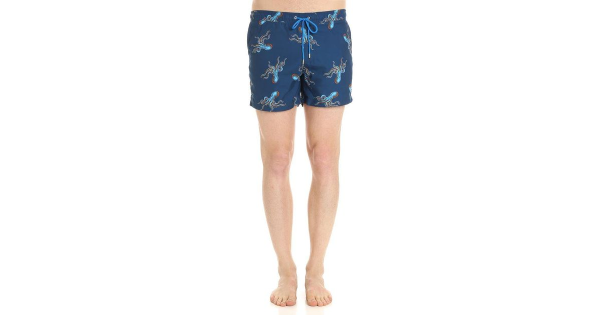 fae63beb86 Lyst - Paul Smith Blue Polyps Swimsuit in Blue for Men