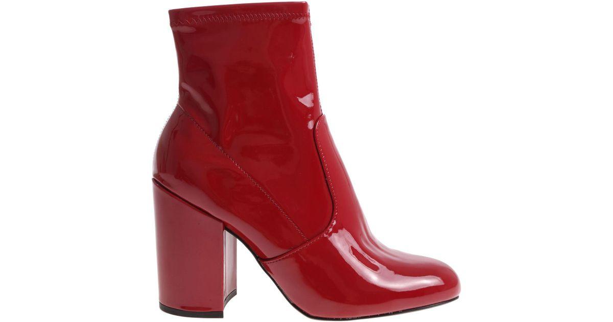 fac349e1bf9 Steve Madden Red Gaze Ankle Boots