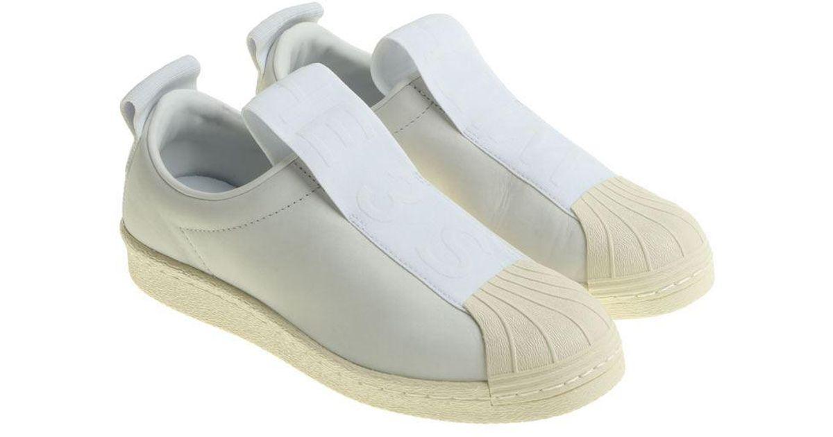big sale 0b731 f0f3d Adidas Originals - White Superstar Bw3s Slip On - Lyst