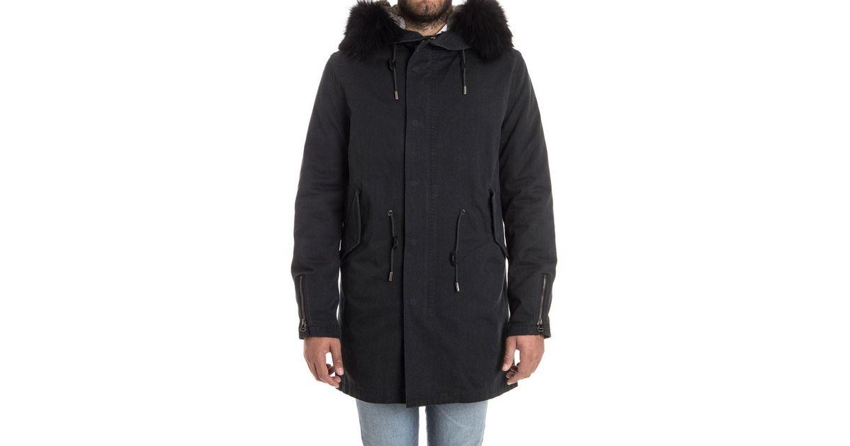 1f0d3e736386 Lyst - Yves Salomon Cotton Parka Jacket in Black for Men