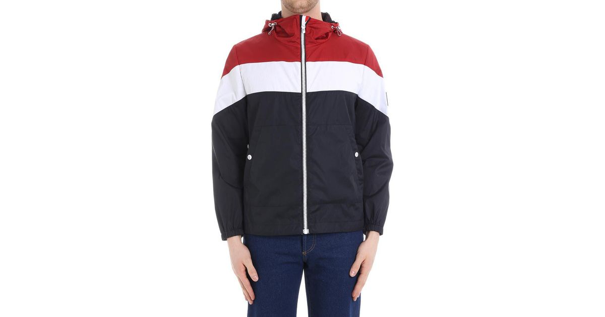 510d24963 Moncler Gamme Bleu Red White And Blue Hooded Jacket for men