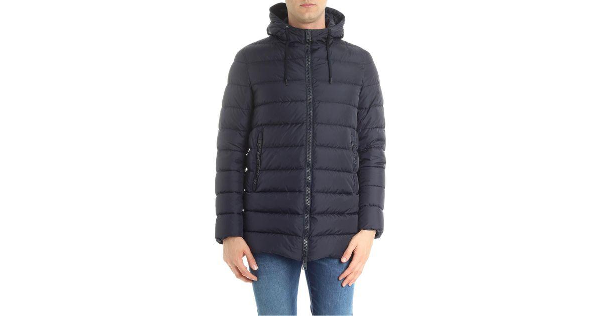135276a271e4 Lyst - Herno Dark Blue Polar-tech Down Jacket in Blue for Men