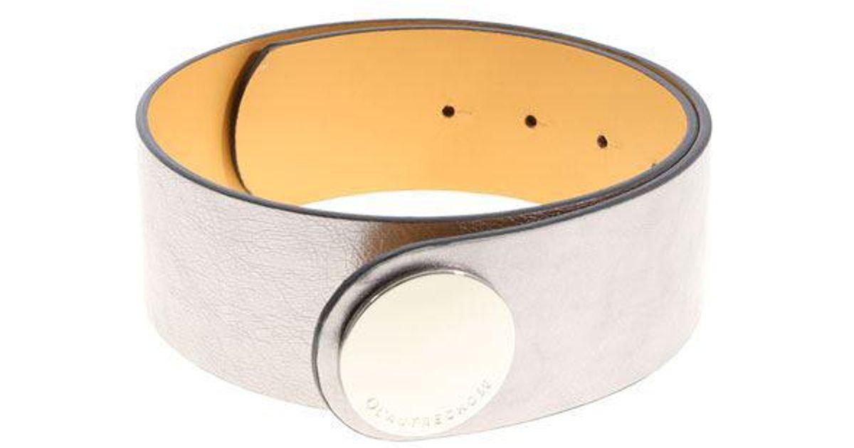 Silver Iride belt L'autre Chose cvmAO174