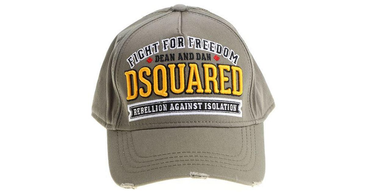 da0d341b60a4d6 DSquared² Army Green Fight For Freedom Hat for Men - Lyst