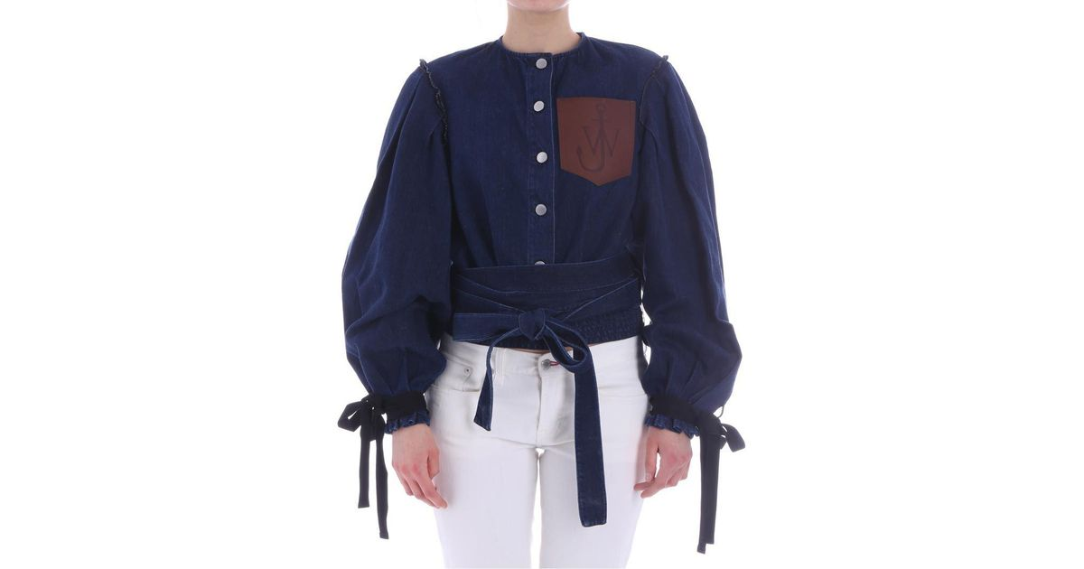 Blue denim jacket with flared sleeves J.W.Anderson Collections For Sale aCjf12V