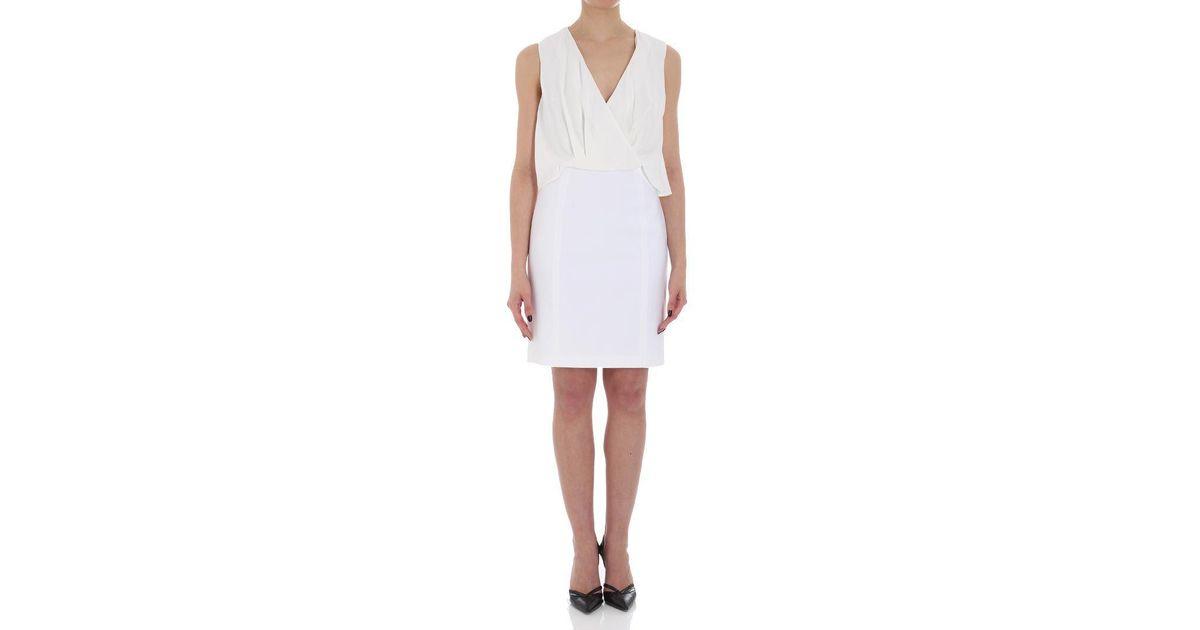 White sheath dress with bows Elisabetta Franchi LT5IFBWaII