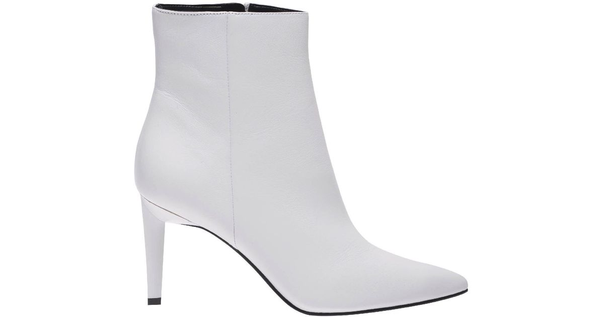 Lyst Kendall Kylie Heeled Booties Shoes Women In White Save 63