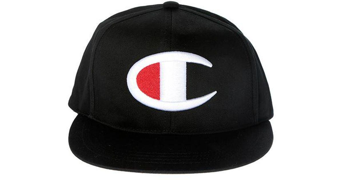 c2ac8ef3c Champion Black Big C Flat Brim Cap for men