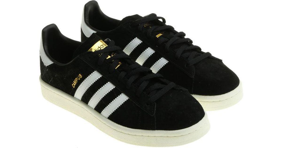 new product db77c 49ef3 adidas-originals-black-Black-Reptile-Effect-Campus-Sneakers.jpeg