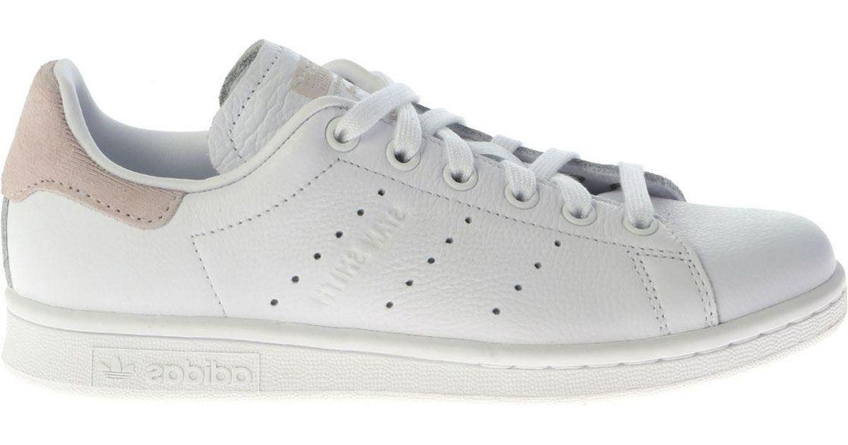 adidas originals white and pink stan