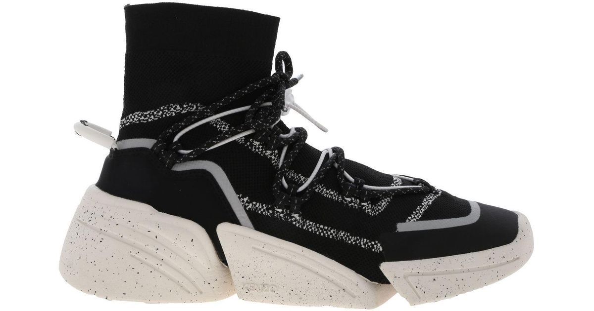 KENZO K-sock Sneakers in Black - Lyst
