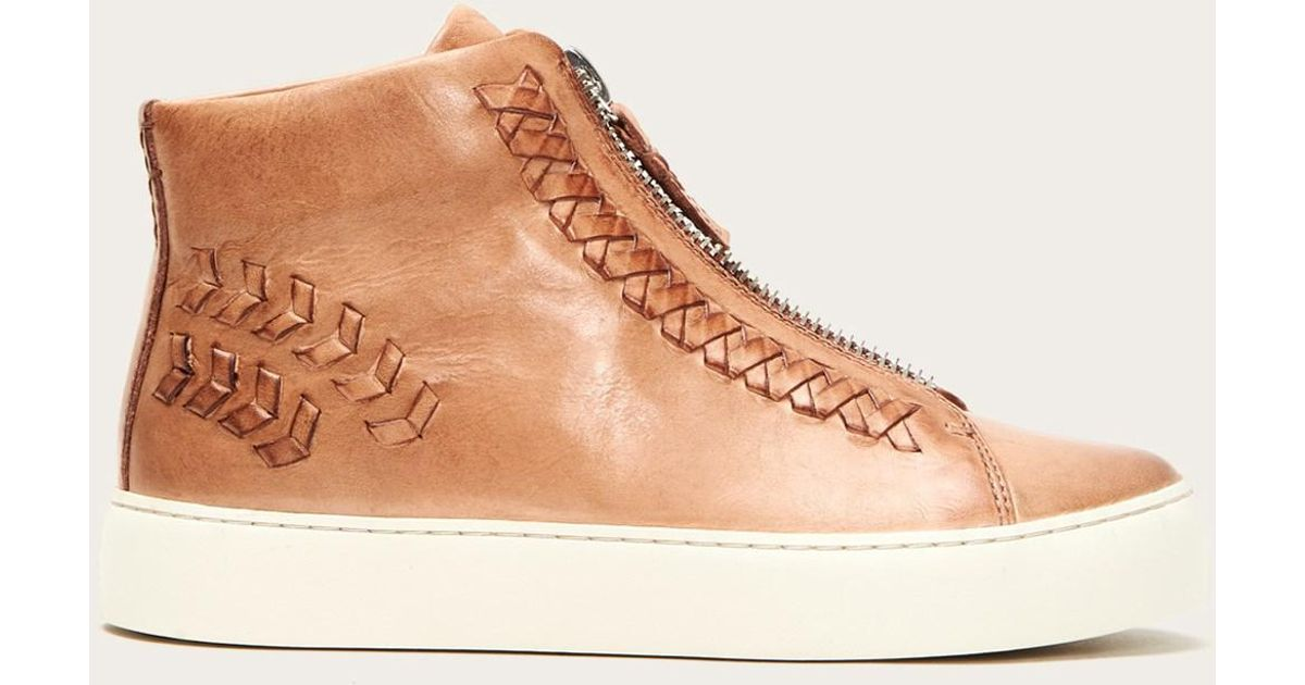 Frye Leather Lena Whip Zip High - Lyst