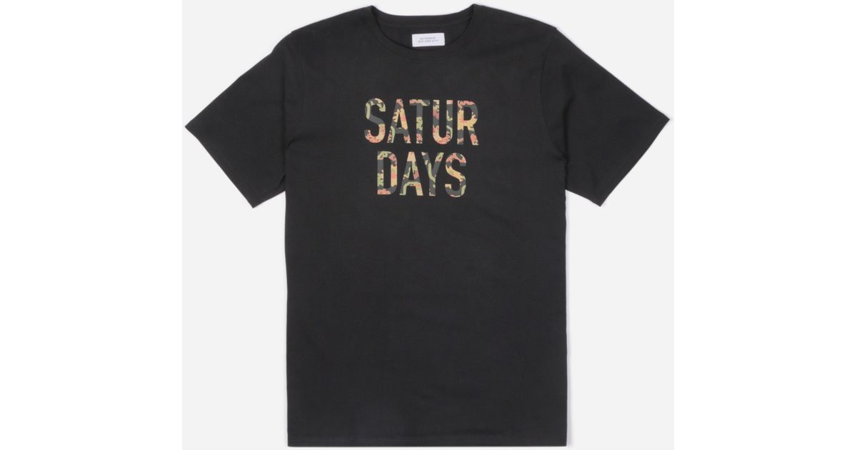 c5451177 Lyst - Saturdays NYC Peony Fill T-shirt in Black for Men