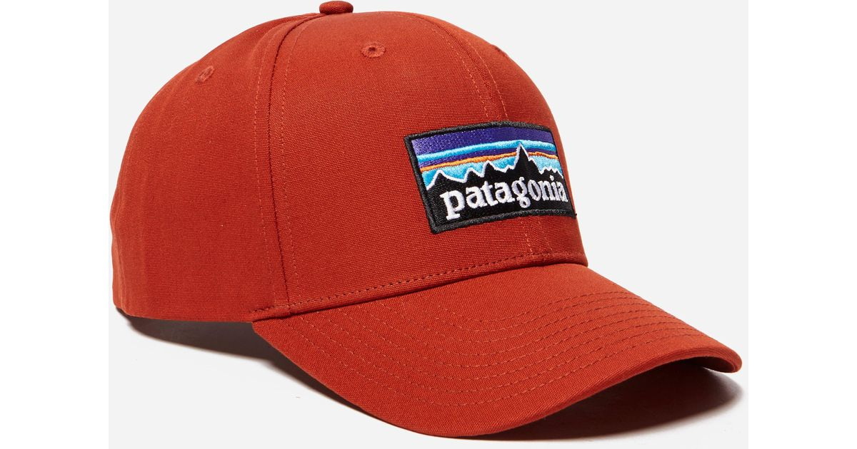 0486b56f56b Lyst - Patagonia P-6 Logo Roger That Hat in Red for Men