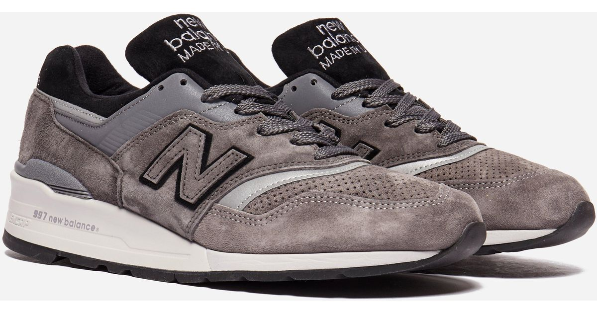 pretty nice 23712 dc6d2 New Balance Gray M997 Brk Made In Usa for men