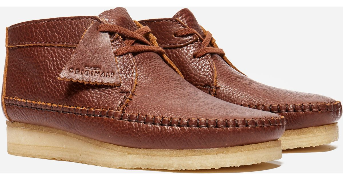 subterráneo interno Intensivo  Clarks Weaver Boot Leather in Brown for Men - Lyst