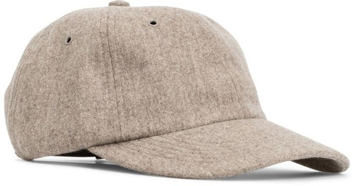 1f932b69648 Norse Projects Waterproof Wool Sports Cap Utility Khaki in Natural - Lyst