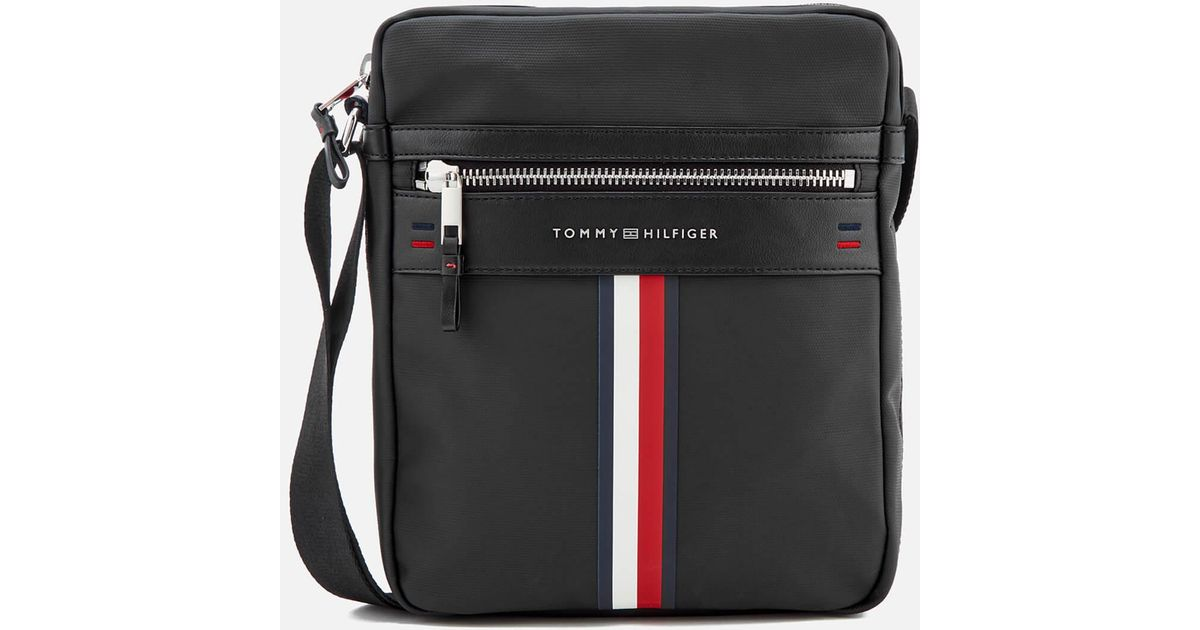 Tommy Hilfiger Black Elevated Reporter Bag For Men