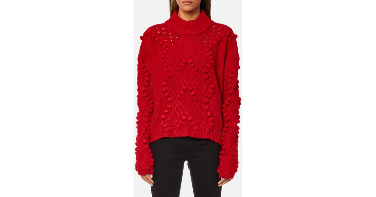 big clearance sale search for genuine reliable reputation Guess Red Long Sleeve Vanda Sweatshirt