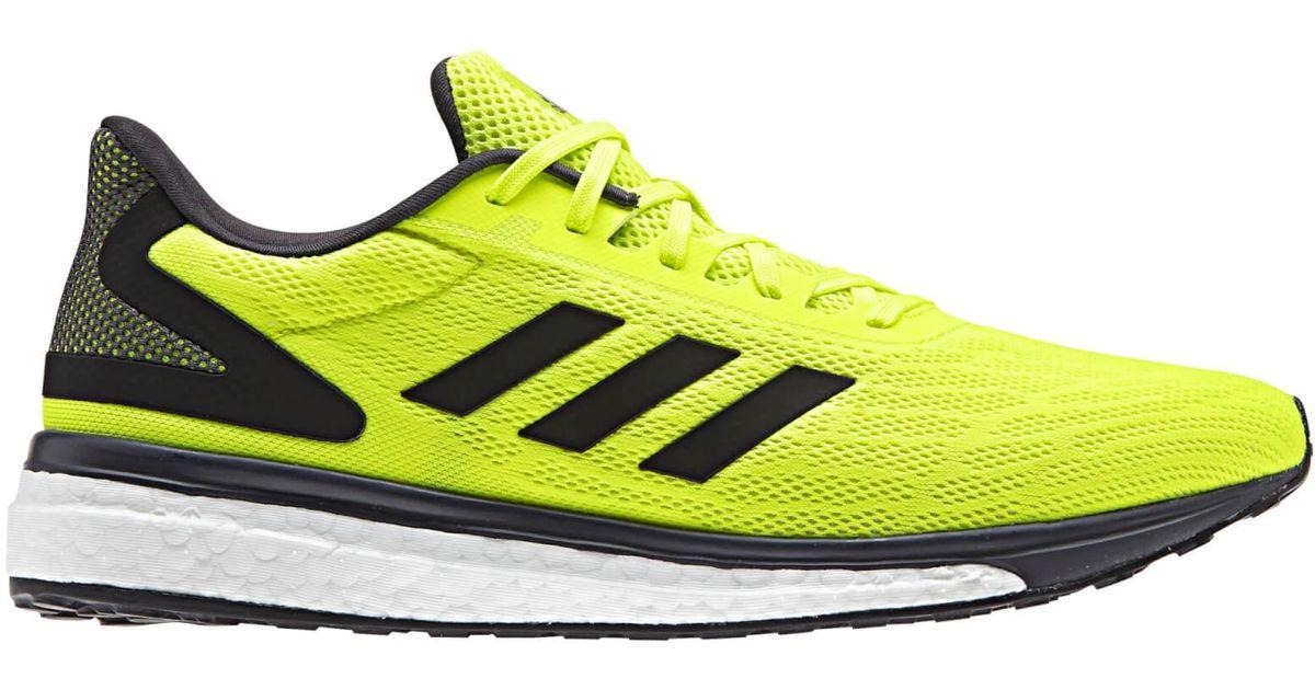 Adidas Yellow Response Light Running Shoes for men