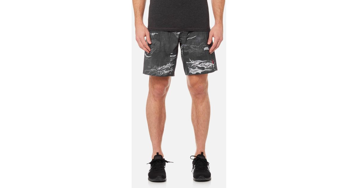 Men/'s shorts Reebok CrossFit Super Nasty Speed Training Black Gym Knickers