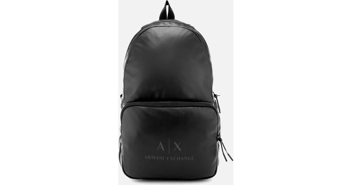 Lyst - Armani Exchange Pu Rucksack in Black for Men - Save 52% ec11e4482c