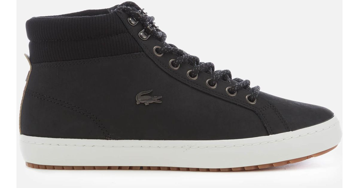 Resistant Lacoste C Straightset Black Insulate Leather For Water 318 Men 1 Boots rQdtshCBx