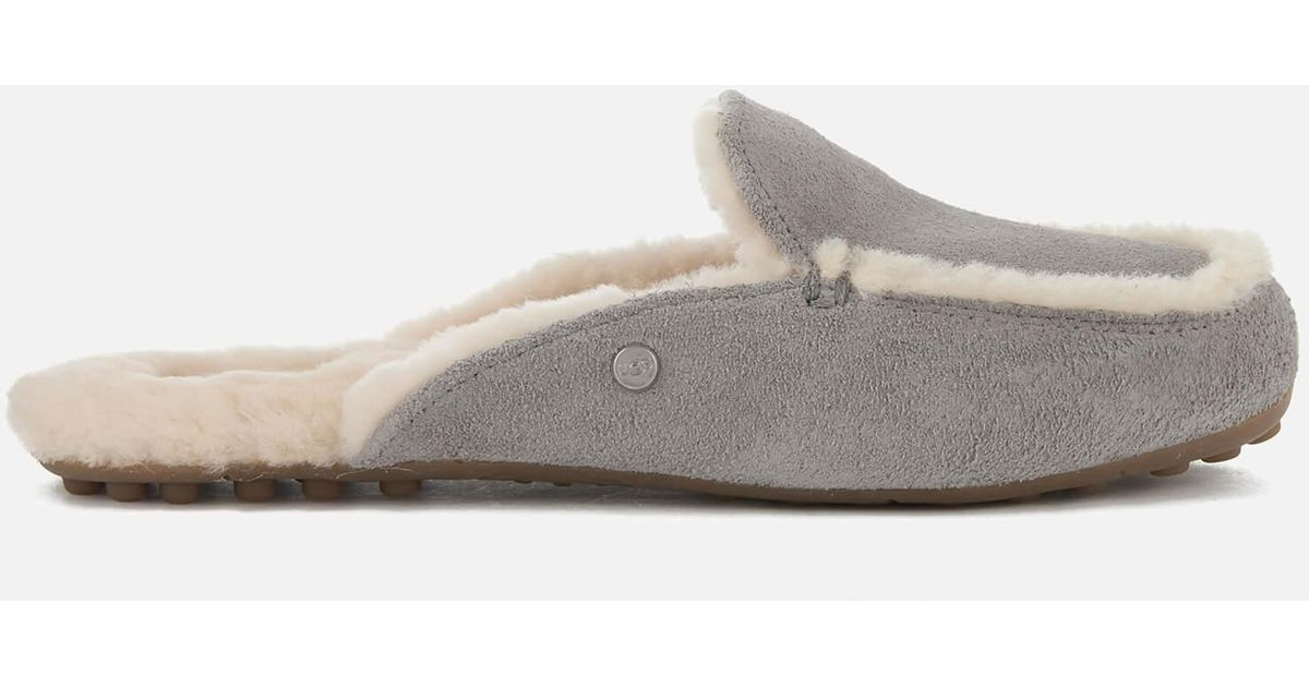 99fc99628eb Ugg Gray Lane Suede Slipper