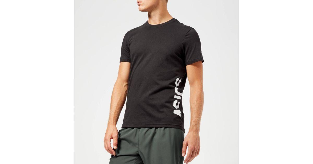 7e4d3c9daa Asics Black Esnt Gpx Short Sleeve Top for men