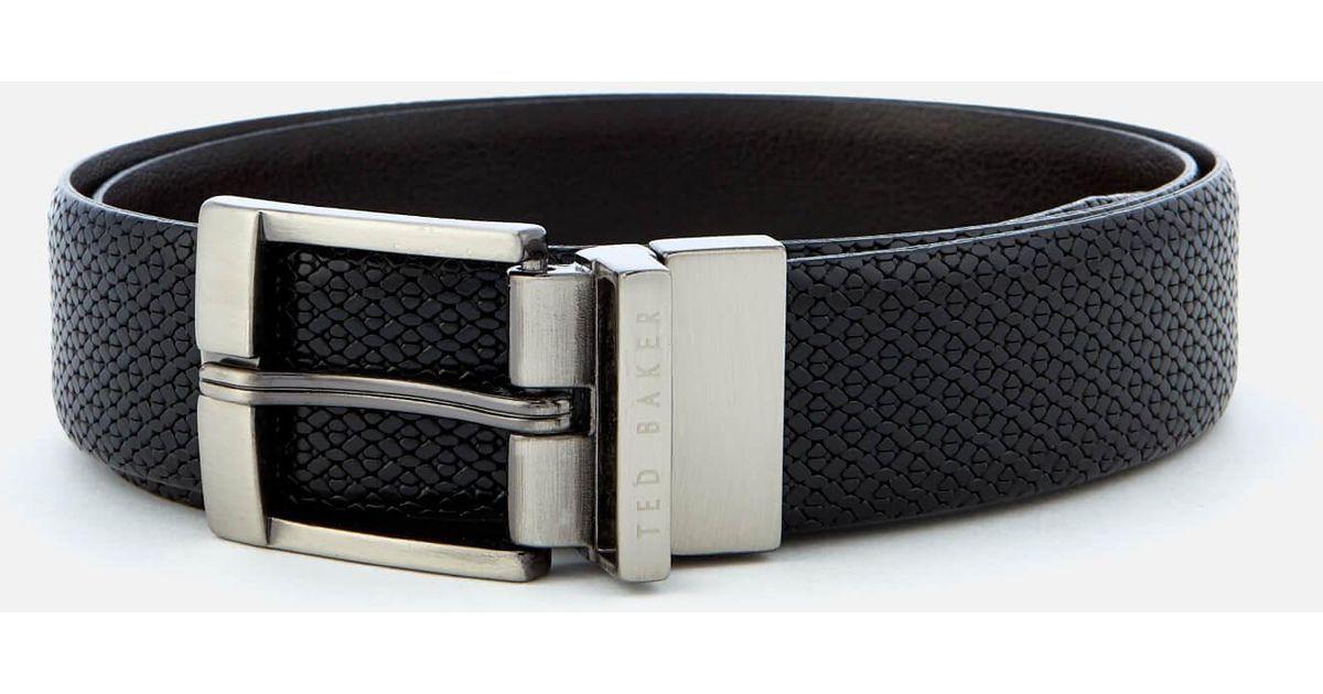 8a2e67880 Ted Baker Inka Reversible Belt in Black for Men - Lyst