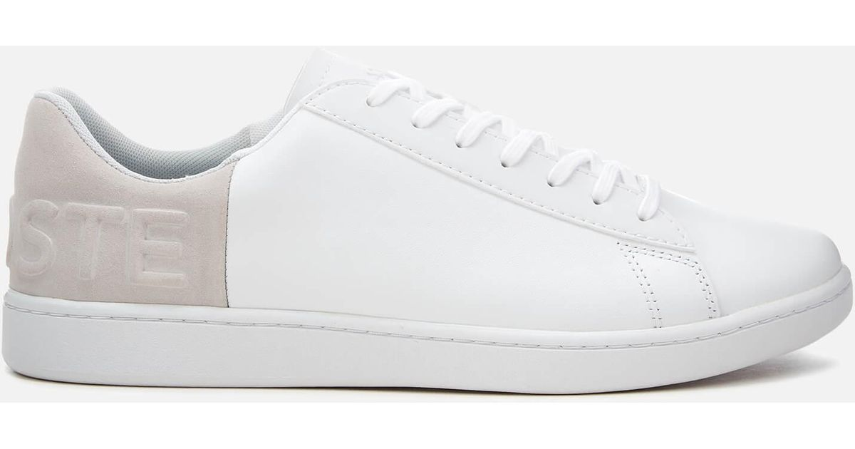 7713893df9 Lacoste Mens White / Light Grey Carnaby Evo 318 6 Trainers Men's Shoes  (trainers) In Multicolour for men