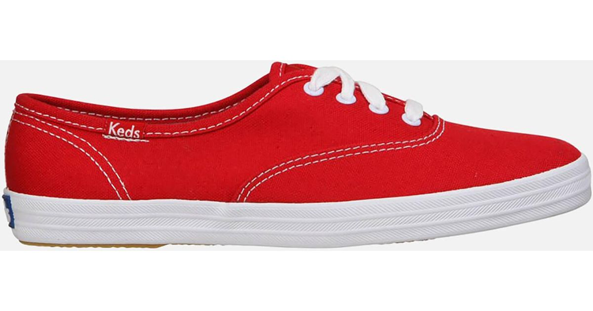 561f913cf9de8 Lyst - Keds Champion Cvo Core Canvas Trainers in Red